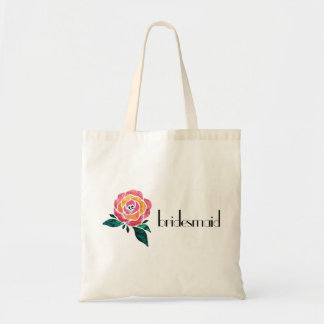 Bridesmaid Tote Bag Modern Rose Floral Rock