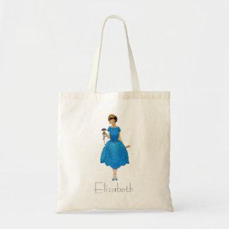 Bridesmaid Tote Bags, pretty posy blue Budget Tote Bag