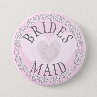 Bridesmaid Wedding Bridal Shower Party Button
