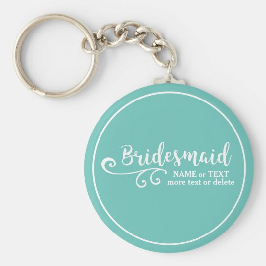Bridesmaid Wedding Favour Name or Monogram Script Key