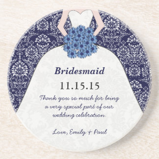 Bridesmaid Wedding Gown Coasters
