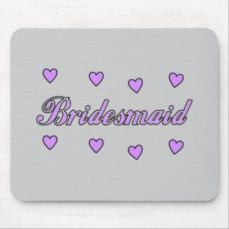 Bridesmaid Wedding Hearts Mouse Pad
