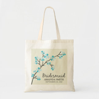 Bridesmaid Wedding Party Gift Bag (aqua)