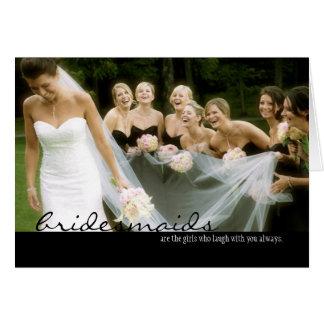 Bridesmaid Wedding Thank You Card