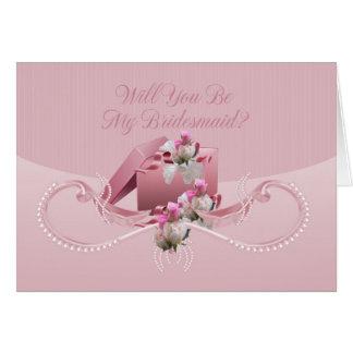 Bridesmaid - Will You Be My Bridesmaid Greeting Ca Card