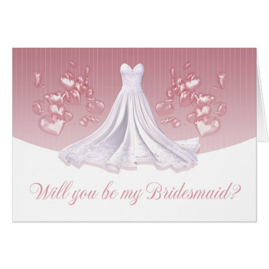 Bridesmaid - Will You Be My Bridesmaid Greeting Ca Card
