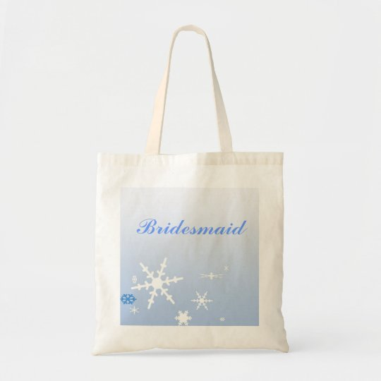 Bridesmaid Winter Wedding Tote Bag