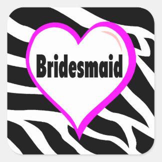 Bridesmaid (Zebra Stripes) Stickers