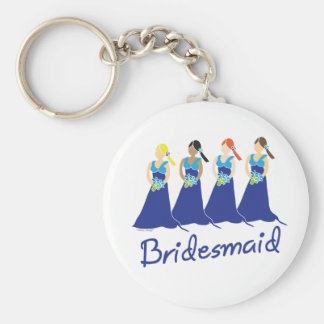 Bridesmaids in Blue Wedding Attendant Keychain