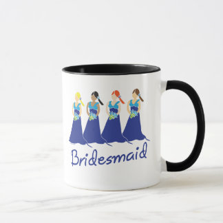 Bridesmaids in Blue Wedding Attendant Mug