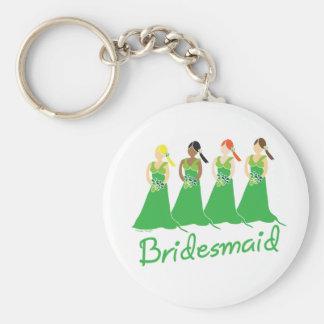 Bridesmaids in Green Wedding Attendant Keychain