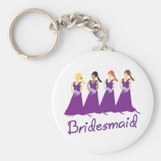 Bridesmaids in Purple Key Chain