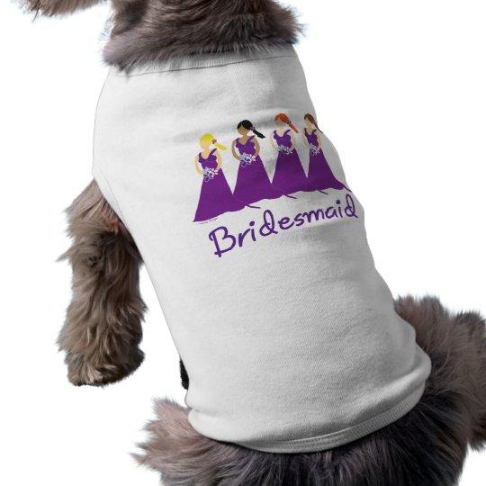 Bridesmaids in Purple Shirt