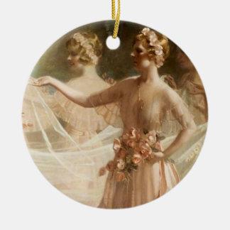 Bridesmaids Round Ceramic Decoration