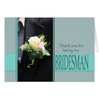 Bridesman thank you card