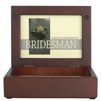 Bridesman thank you keepsake box
