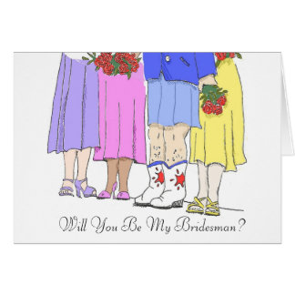 Bridesman, Will You Be My Bridesman? Card