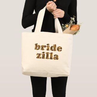 Bridezilla Fun Quote Tigerprint Tote