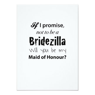 Bridezilla - Maid of Honour Invitation