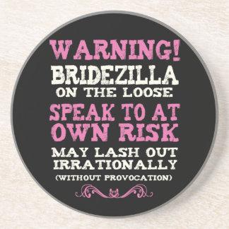 Bridezilla On The Loose Drink Coasters