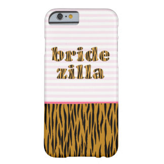 Bridezilla | Pink Stripes & Tigerprint iPhone case