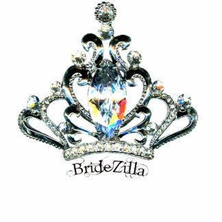 BrideZilla Tiara Sculpture Standing Photo Sculpture