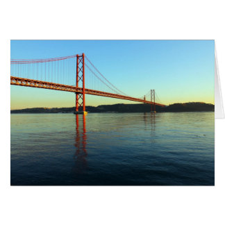 Bridge 25 of April, Lisbon, Portugal Greeting Card