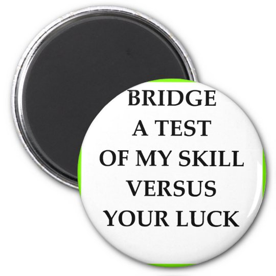 BRIDGE 6 CM ROUND MAGNET