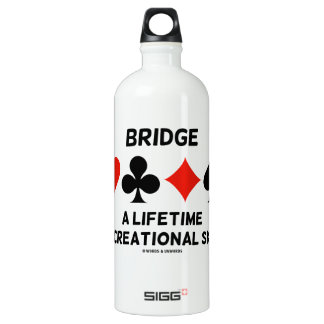 Bridge A Lifetime Recreational Skill (Card Suits) SIGG Traveller 1.0L Water Bottle