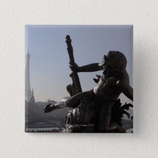 Bridge ALEXANDRE III/Paris 15 Cm Square Badge