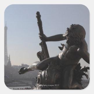 Bridge ALEXANDRE III/Paris Square Sticker