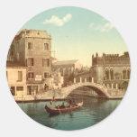 Bridge and Canal, Venice Classic Round Sticker