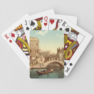 Bridge and Canal, Venice, Italy Poker Deck