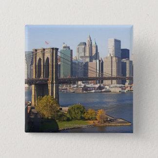 Bridge and Cityscape 15 Cm Square Badge