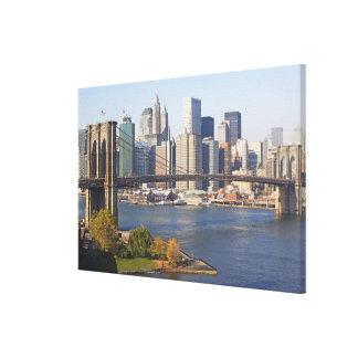 Bridge and Cityscape Gallery Wrap Canvas