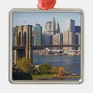 Bridge and Cityscape Christmas Ornament