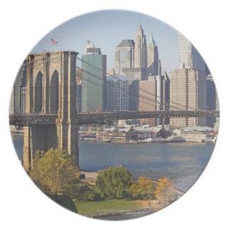 Bridge and Cityscape Plate