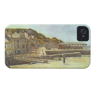 Bridge and Port of Port-en-Bessin by Seurat iPhone 4 Cover