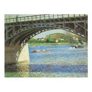 Bridge at Argenteuil by Caillebotte, Vintage Art Postcard