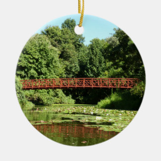 Bridge at Centennial Lake Ellicott City Maryland Christmas Ornament