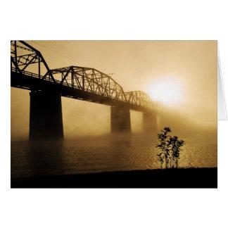 Bridge at Dawn Card