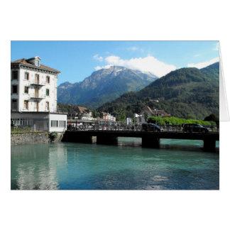 Bridge at Interlaken in Switzerland Card