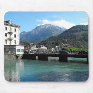 Bridge at Interlaken in Switzerland Mouse Mat