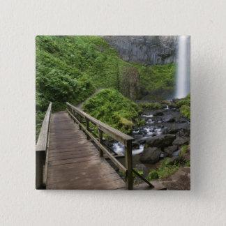 Bridge at Latourell Falls, Columbia River Gorge, 15 Cm Square Badge