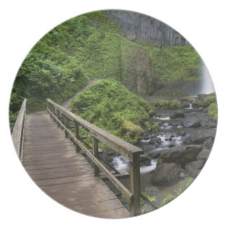 Bridge at Latourell Falls, Columbia River Gorge, Plate