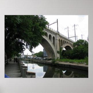 Bridge at Manayunk Poster