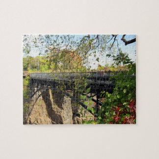 Bridge at Mary Ellen Kramer Great Falls Park, NJ Jigsaw Puzzle