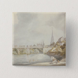 Bridge at Monmouth 15 Cm Square Badge