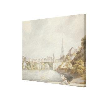 Bridge at Monmouth Canvas Print