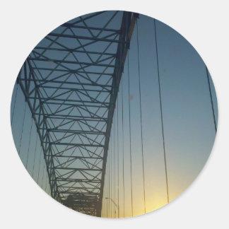 Bridge at Sunset Sticker